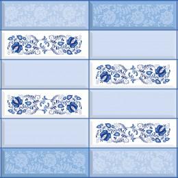 Декоративные панели мозаика Плитка Гжель 955*480 мм