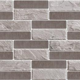 Декоративные панели мозаика Кирпич модерн серый 960*480 мм