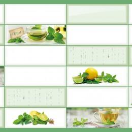 Декоративные панели мозаика Плитка Зеленый чай 955*480 мм