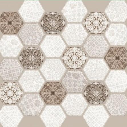 Декоративные панели мозаика 2 Квадрата Соты Богема 595*595 мм