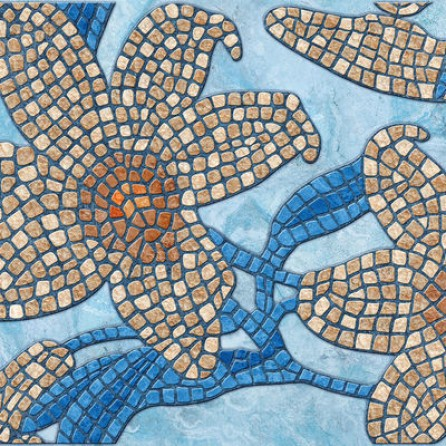 Декоративные панели мозаика Каменный цветок синий 960*480 мм