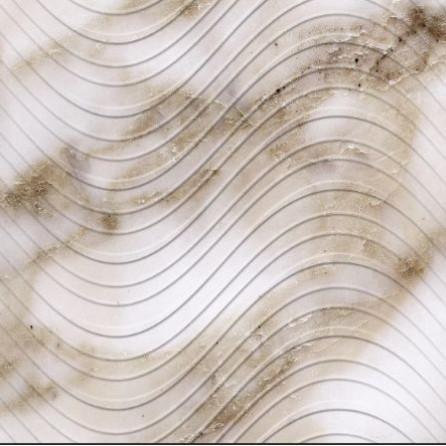 Декоративные панели мозаика Волна светлая 960*480 мм