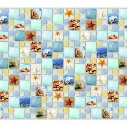 Декоративные панели мозаика Плитка Голубая Лагуна 955*480 мм
