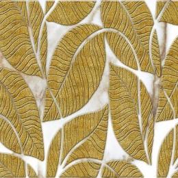 Декоративные панели мозаика Листья Золото Светлый фон 960*480 мм